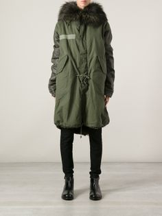 Designer Parka Coats For Women Hooded Parka, Parka Coat, Parka Outfit, Winter Outfits, Cool Outfits, Parka Style, Rocker Style, Military Fashion, Coats For Women