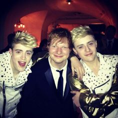 Ed at the Grammys with some random guys who I didn't even know existed.