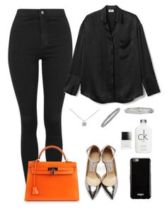 """."" by owl00 ❤ liked on Polyvore featuring Topshop, Hermès, Givenchy, Tiffany & Co., Cartier, Butter London, Calvin Klein and Jimmy Choo"