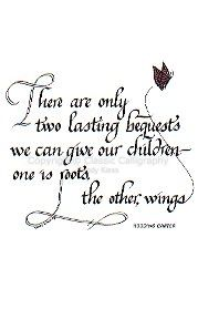 Pretty Quote for childrens bedroom.