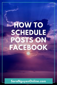 Learn how to schedule posts on Facebook in advance using Facebook's own scheduling feature and have your posts appear consistently without there...  #socialmediatips #socialmediatools #facebookmarketing #socialmediamarketing #socialmediatraining #socialmediamanagement #socialmediastrategy #bloggingtips #techtips #tutorial #howto #facebook #facebookmarketingtips