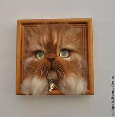 Animals handmade. Fair Masters - handmade Persian Red Cat Boss Panno volume of felt. Handmade.