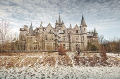 Château de Noisy (Château Miranda/Noisy Castle) in Belgium. It's abandoned now and is said to be haunted.