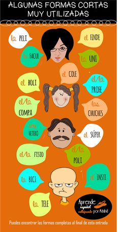 Palabras del español que solemos usar con una forma corta.