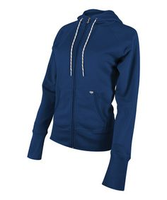 Take a look at this Navy Zip-Up Hoodie - Women by TYR on #zulily today!