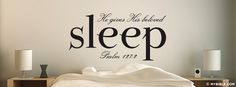 Psalm 127:2 NKJV - He Gives His Beloved Sleep - Facebook Cover Photo