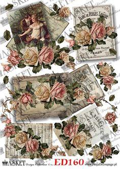 romantyczne retro motyw decoupage Decoupage, Christmas Balls, Vintage World Maps, Retro, How To Make, Blog, Printables, Collection, Design