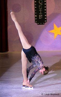 Sasha Cohen - flex leg spiral!