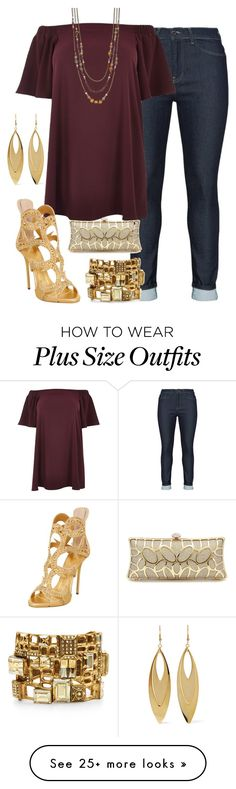"""Untitled #1467"" by beng-gallo on Polyvore featuring Mat, River Island, Simply Vera, Oscar de la Renta, Giuseppe Zanotti and Kenneth Jay Lane"