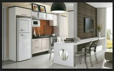 Interesting way to connect kitchen and living room Business Design, Entertainment Center, Decoration, Sweet Home, Kitchen Cabinets, Home Appliances, Living Room, Interior Design, House