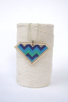 little chrissy chevron cross stiched necklace