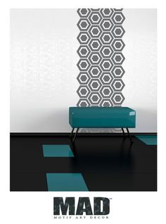 WANDTATTOO TAPETE ::::SECHSECK TAPETE::: von M.A.D Motif Art Decor      auf DaWanda.com