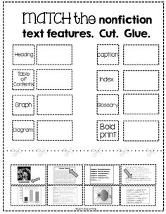text features for third graders - Google Search