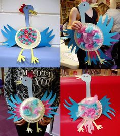 Some of the children's magnificent bird creations. Find how to make the Roly… Roald Dahl Dress Up, Roald Dahl Day, Roald Dahl Activities, Craft Activities, Bird Crafts, Nature Crafts, Crafts To Make, Crafts For Kids, Arts And Crafts