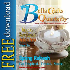 Our #craftmagazine is FREE to view online and download.  Make sure you get your copy today...and tell a friend, too! http://bellacraftsquarterly.com