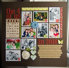 a 9-photo layout!  I need this!  A year in photos