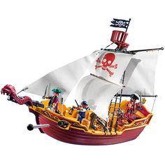 "Playmobil Pirates - Red Serpent Pirate Ship - Playmobil - Toys ""R"" Us"