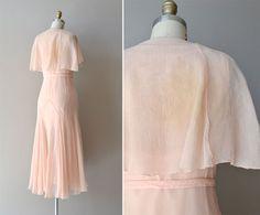 silk 1920s dress / vintage 20s dress / Doucement by DearGolden, $385.00