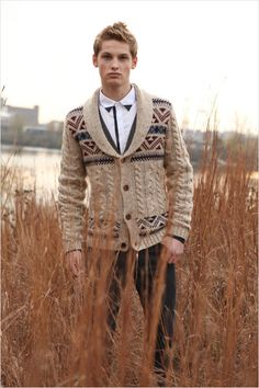 Nice shirt, nice sweater, not so sure about having both in one outfit.  #men #style #shirt #sweater