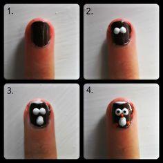 Leuke nail-art van blogger Geanne: maak een uiltje!