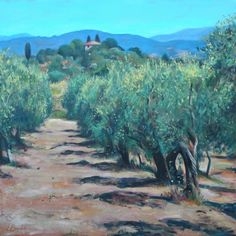 Tuscan Olive Grove Painting  - Leigh Banks