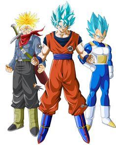 los 3 super saiyajins mas poderosos by naironkr on DeviantArt