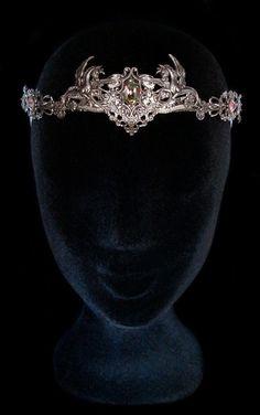 Aurora Borealis Crown Crystal Circlet Winged by AMonSeulDesir