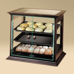 Cal Mil Wood Frame Bakery Display Case with Front Door 21 x 18 x 20 Kitchen Items, Kitchen Cart, Countertop Display Case, Bakery Display Case, Self Serve, Coffee Truck, Professional Kitchen, Wooden Frames, Tray