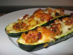 Zucchini Stuffed with Italian Sausage and Cheese by Kevin - Closet Cooking, via Flickr