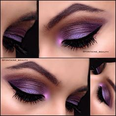 Try this 'hue'-tiful look with Ben Nye's Luxe Powder in Amethyst and Cosmic Violet ($10.00), available at crcmakeup.com