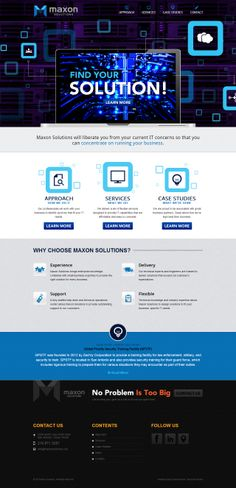 Maxon Solutions in San Antonio, Texas is a full-service IT company that wants to liberate you from your IT concerns. This website is both desktop and mobile friendly and it's a Silver American Advertising Award Winner!