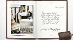 An ad campaign by Sofitel hotels features travel diaries inspired by real people (hotel ad)