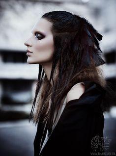 Not wearable but so beautiful. The urban crow by Diana Bogach, via Behance