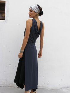 Grey evening elegant dress-Grey maxi dress-The majestic Arabian night dress-Wedding dress-Bridesmaid dress-Prom dress