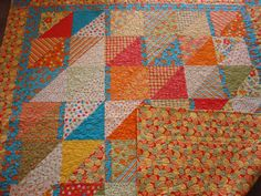 Fresh Squeezed Moda Fabric Quilt.