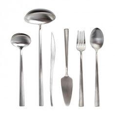 Duna by Cutipol Brushed Steel Serveware - 6 pieces