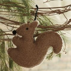 Felt Squirrel Ornament from Through the Country Door®