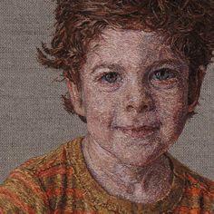 Photorealistic Hand-Embroidered Portraits by Cayce Zavaglia