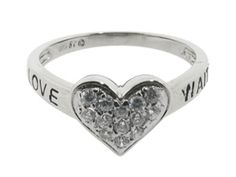 LOVE WAITS Diamond Purity Silver Heart Ring From Gemologica (Online at Gemologica.com)