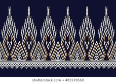 Geometric Ethnic pattern design for background or wallpaper. Embroidery Art, Machine Embroidery Designs, Graphic Artwork, Ethnic Patterns, Pottery Designs, Background Patterns, Pattern Art, Illustrations, Screen Printing