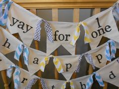 flag bunting with single strip between each flag