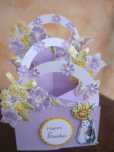 Second Cascading Easter card by Michele G - Cards and Paper Crafts at Splitcoaststampers