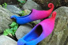 Ready to ship Us6 Fairy shoes/ felted home slippers door zavesfelt, $65,00