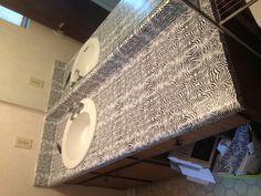 Zebra contact paper Zebra Bathroom, Contact Paper, Sink, Design, Home Decor, Sink Tops, Vessel Sink, Decoration Home, Zebra Print Bathroom