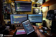 Extreme  by @dircomputers . . . . #workspace #workstation #deskspace #software #technology #design #development #programmer #developer #softwaredeveloper #geek #uidesigner #webdesign #php #programming #nodejs #javascript #ios #apple #applegeek #imac #computer #setup #nerd #screen #techie #techy #techaddict