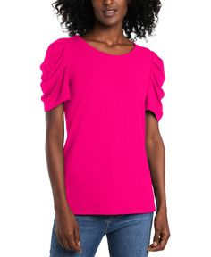Hot Pink Tops, All Fashion, Get Dressed, Black Women, Scoop Neck, Fancy, Stylish, Casual, Clothing