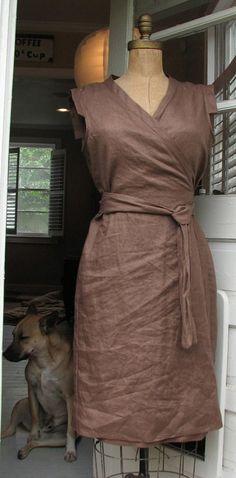 burda style's desira as a wrap dress