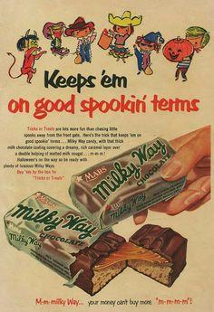 Vintage Milky Way ad