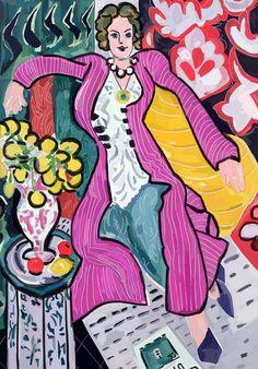 #앙리 마티스 #보라색 코트를 입은 여인 #Henri Matisse #Women In a Purple Coat