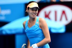 Ana Ivanovic. The former world No.1 pulled off the upset of the tournament on Sunday with her come-from-behind 4-6 6-3 6-3 victory over Serena Williams during the day session at Rod Laver Arena, 19 January 2014 - Ben Solomon/Tennis Australia.